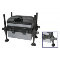 Wholesale Fishing Seat Boxes with 3 Drawers, Adjustable Round Black Legs STBX015 from china suppliers
