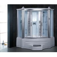 Wholesale Combined shower + steam sauna + infrared sauna tempered glass corner steam shower room from china suppliers