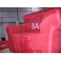 Wholesale Red inflatable sofa with repair kit and air pump for living  room , bedroom , flat from china suppliers