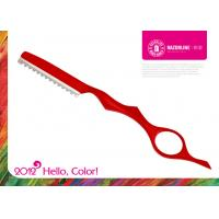 Wholesale H2 Red Teflon Coating Cobalt Alloy Professional Hairdressing Scissors / Hair Cutting Razor from china suppliers