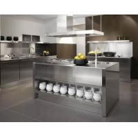 China Sliver color L-shape Stainless Steel Kitchen Cabinet With Shelf And Drawer For House on sale