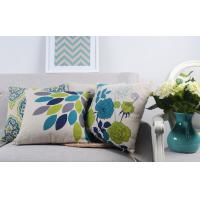 Quality Heavy Weight Linen Digital Printed Leaves Home Decor Pillows For Sofa for sale