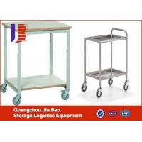 Quality Warehouse Foldable and stackable Mental Logistics Trolley For Workshop of Logistics Trolley for sale