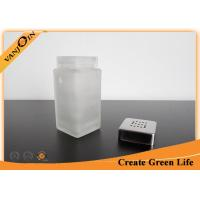 Wholesale Small Glass Sauce Bottles Wholesale , 100ml Square Spice Glasss Bottle with Metal Shaker Lid from china suppliers