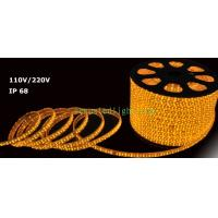 Wholesale LED Rope light yellow color 100m/roll LED 2 wires 13mm diameter 220V from china suppliers