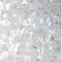 Wholesale Handmade Beautiful Sea shell Wall Panel Freshwater Shell Decorating Panel Triangle 10-35mm from china suppliers
