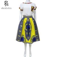Wholesale Dashiki Style African Print Skirts100 Percentage Cotton Customized Length from china suppliers