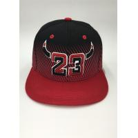 Quality Snapback Baseball Hat Embroidery Printing Sports Stripe Black Blue Gray Letter for sale