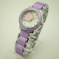 Wholesale Fashion Purple Quartz Womens Watches , Two Tone Ladies Wrist Watches from china suppliers