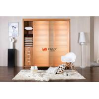 Wholesale Contemporary Kitchen / Wardrobe Sliding Louvered Closet Doors Opening Smoothly from china suppliers