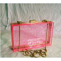 Wholesale Red Retangle Woman Acrylic Box Clutch Bag for Wedding Party from china suppliers