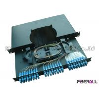 Wholesale High Density SC Fiber Patch Panel And Enclosure , 24 Port Fiber Patch Panel from china suppliers