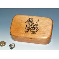 China Natural Wood Solid Timber Jewellery Box With Lacquer, Handmade Wooden Ring Gift Box on sale