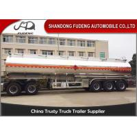 Quality 5 Compartments Aluminum Tank Semi Trailer , Petroleum Tank Trailers 50000 Liters for sale