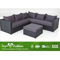 Wholesale Three Seater Sofa Set Patio Outdoor Furniture With Alu Frame Excellent Handweaving Technique from china suppliers