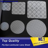 Wholesale fly eye lens microlens film sheet 3d plastic lenticular lens material for 3d lenticular printing and 3d LED diffuser from china suppliers