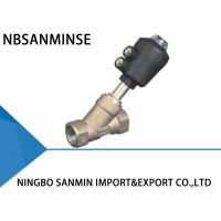 Wholesale Gunmetal Pneumatic Angle Seat Valve 1 / 2  Inch 3 / 4 Inch High Performance from china suppliers