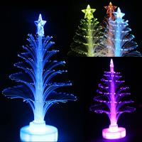 Wholesale Colorful LED Fiber Optic Nightlight Christmas Tree Light from china suppliers