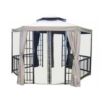 Wholesale Hexagonal Gazebo Patio Sun Shades Furniture with Valance , Outdoor Party Tent from china suppliers