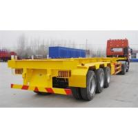 Wholesale 40 T Flat Bed Semi Trailer Truck 40 Feet Skeleton Container transport Tractor Trailer from china suppliers