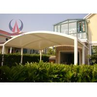 Quality Modern Metal Entrance Canopy Fabric Roof Structures DIN4102 B1 Fire Rating for sale