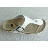 Wholesale Women / Men White Cork Slippers , PU Beach Fashion Soft Sandal from china suppliers
