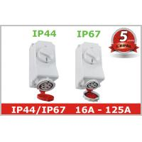Wholesale IP44 IP67 Industrial Power Socket Receptacles with Mechanical Interlock from china suppliers