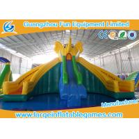 Wholesale Huge Commercial Inflatable Slide Cartoon Obstacle Course Water Slide For Kids from china suppliers