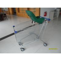 Quality Anti Theft 210L Supermarket Shopping Trolley With Baby Capsule GS / ROSH for sale
