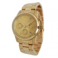 Wholesale Solid Bands Waterproof Stainless Steel Watches With Gold Plating from china suppliers