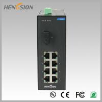 Wholesale Din rail Lightweight Gigabit Ethernet Switch 8 Electric Port and 1 FX from china suppliers