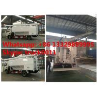 Wholesale factory sale dongfeng RHD 120hp 5tons-7tons hydraulic discharging feed truck, hydraulic farm-oriented animal feed truck from china suppliers