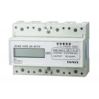 Wholesale 7 Module Din Rail 4 Wire Three Phase Power Meter CT Connection 10 ( 100 ) A 3 * 230V / 400V 50HZ from china suppliers
