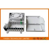Wholesale 8 Port Fiber Optic Termination Box / FTTH Mini Splitter Box Wall Mounting On Floor Cabinet from china suppliers