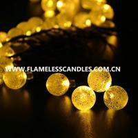 Wholesale LED Crystal Ball Fairy Light Battery Operated String Lights Outdoor Decoration Use from china suppliers