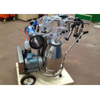Wholesale Popular Cows / Goats Milking Machine with 2 Stainless Steel Buckets , 250L Vacuum Pump from china suppliers