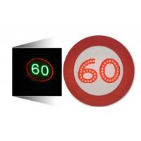 Wholesale LED Solar Traffic Signs 60 Mph Speed Limit Sign Aluminum Housing from china suppliers