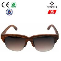 Wholesale Half Framed Water Proof Rosewood Wood Sunglasses Polarized CE ROHS FSC from china suppliers