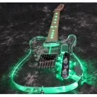 Wholesale LED Light Glow TL Electric Guitar- Acrylic Electric Guitar,actual pictures showed from china suppliers