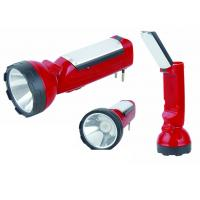 Wholesale 50Hz / 60Hz LED Long Range Rechargeable Torch With LED Night Light Red Color from china suppliers