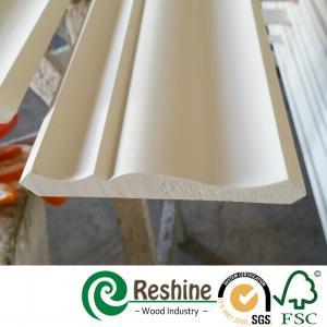 Quality Primed finger joint wood pine flooring baseboard door casing ceiling crown moulding for sale