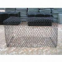 Wholesale Gabion Cages with Hexagonal Galvanized/PVC/Zinc Coating, Wire Mesh Size of 6x8cm, 8x10cm, 10x12cm from china suppliers