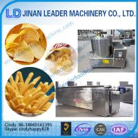Wholesale small scale fried potato chips making machine automatic frying machine from china suppliers
