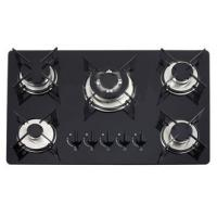 Wholesale Brazil Classic Glass Gas Hob 5 Burner Gas Cooker Pulse Igniton With 1.5V from china suppliers