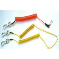 Wholesale Colorful Plastic safe string holder coiled lanyard tether with heavy duty hooks from china suppliers