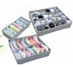 Wholesale 3PCS Underwear Bra Socks Ties Divider Closet Container Storage Box Organizer Set from china suppliers