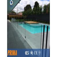 Wholesale frameless balustrade/frameless u channel glass railings for pool from china suppliers