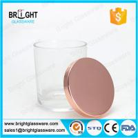 Buy cheap electroplating rose gold metal lids for candle holder from wholesalers