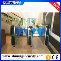 Quality led light card reader flap turnstile barrier for office building for sale
