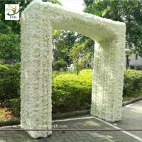 Wholesale UVG 2.5 meters artificial rose and hydrangea flower entrance for wedding hall decoration CHR1145 from china suppliers